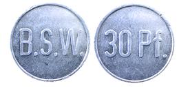 03055 GETTONE JETON TOKEN VENDING KANTINE BIER B.S.W. 30 PF - Allemagne