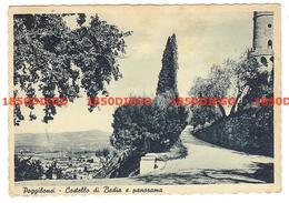 POGGIBONSI - CASTELLO DI BADIA E PANORAMA F/GRANDE  VIAGGIATA 1955 - Siena