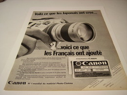 ANCIENNE PUBLICITE LES JAPONAIS ON CREE CANON 1970 - Photography