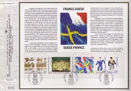 FEUILLET CEF TIRAGE LIMITE, RELATIONS FRANCE - SUEDE, 1994 - Autres