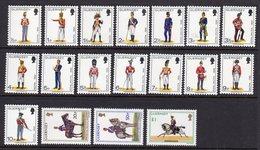 GUERNSEY - 1974 MILITIA UNIFORMS COMPLETE SET (18V) SG 98-113 FINE MNH ** - Guernsey