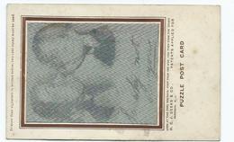 H.c.j. Deelks American EDWARDIAN PUZZLE CARD  Early Hologram - Postcards