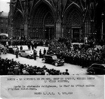 (18) Photo Originale Rouen 1944 Maréchal Pétain Visite La Ville Martyre Eglise St Ouen Photo De Presse 18X13cm(bon état) - Rouen