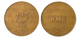 03078 GETTONE JETON TOKEN ANNIVERSARY METAL PRODUCT KME OSNABRUCK 1873-1998 - Unclassified