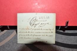 LETTRE  CAD   BELAC  ECRIT PORT PAYÉ  XVIIIÉ - 1792-1815: Conquered Departments