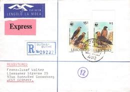 LESOTHO - RECO AIR MAIL EXPRESS 1986 -> BONN-BAD GODESBERG - Lesotho (1966-...)