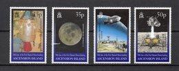 ASCENSION N° 743 à 746 NEUFS SANS CHARNIERE COTE 8.00€ ESPACE  LUNE - Stamps