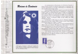 FEUILLET CEF TIRAGE LIMITE, MARIANNE DU BICENTENAIRE, 1994 - Philatélie & Monnaies