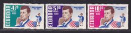 EQUATEUR AERIENS N°  430 à 432 ** MNH Neufs Sans Charnière, TB (D5928) Hommage à Kennedy - Ecuador
