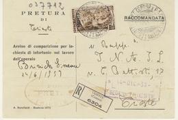 Tariffa Cartolina Stampe Raccomandata (vedi Descrizione) 2 Immagini - Storia Postale