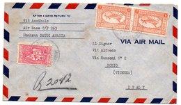 ARABIE SAOUDITE/SAUDI ARABIA - REGISTERED AIR MAIL COVER TO ITALY 1956 - Arabia Saudita