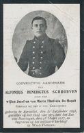 Gesneuveld WO I - SCHROEVEN Alfonsus Benedictus ° Aarschot 1893 + Sas Van Boesingen 15 Maart 1917 [] West-Vleteren - Religion & Esotérisme