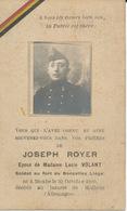 Guerre 14/18 - Joseph ROYER - Soldat Au Fort De Boncelles ° Moxhe 1890 + Lazaret De Mulhein (Allemagne) - Religion & Esotérisme