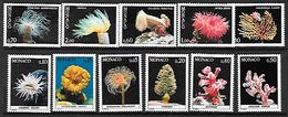 MONACO 1253 à 1263 Faune De La Méditerrannée Corail Coraux Neufs **. - Unused Stamps