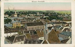 AT  WIENER NEUSTADT  / Vue Générale  / BELLE CARTE COULEUR  GLACEE AVEC BRILANCE  SUR LES FENETRES - Wiener Neustadt