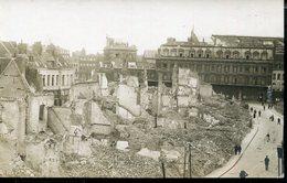 FRANCE WWI PHOTO POSTCARD  DESTROY QUARTER FELDPOST - Weltkrieg 1914-18