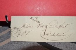 LETTRE  CAD MORTEROLLE 27 MAI 48 .(81) ; CAD LA SOUTERRAINE27 MAI 48(22) CAD BESSINE 81 - Postmark Collection (Covers)