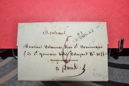LETTRE 1ER EMPIRE   CACHET ROUGE FEVRIER I 1812 .  CACHET LE DORAT 81 - 1792-1815: Conquered Departments