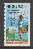 TIMBRE NEUF DU BURKINA FASO - TENNIS (ANNEE PREOLYMPIQUE) N° Y&T 744 - Tennis