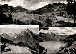 Fernsichten Von Der Kerenzerbergstrasse - 3 Bilder (03140) - GL Glarus