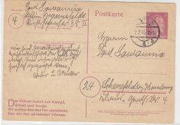 Ganzsachen Karte Aus Stettin 2.2.45 (Braunsfelde) Nach Schenefeld - Briefe U. Dokumente