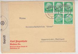 Zensurbrief Aus Meissen 16.1.40 Nach Maastricht / Holland - Briefe U. Dokumente