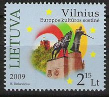 "2009 Lietuva  Litauen  Mi.1005 ** MNH ""  Vilnius - Kulturhauptstadt Europas 2009 - Europese Gedachte"