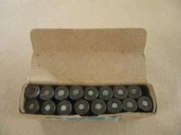 Boîte En Carton De 16 Cartouches Neutralisées Cal 9 Mm Allemande WWII - Equipment