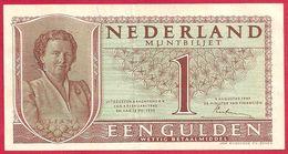 Pays Bas, Hollande, Nederland, Muntbiljet, 1949, 1 Gulden, Juliana - [2] 1815-… : Kingdom Of The Netherlands