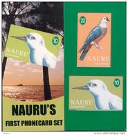 Nauru - 1999 First Issue Set (2) - NAU-2/3 - Specimens In Folder - Nauru