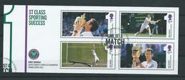 GROSSBRITANNIEN GRANDE BRETAGNE GB 2013 Tennis Murray Champion Wimbledon SG MS3511 SC SH3211 MI B83-3499-502 YV 3900-03 - Blocs-feuillets