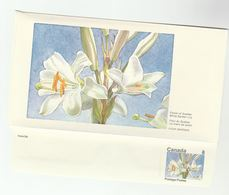 CANADA DOMESTOGRAMME Illus 8c WHITE LILY  Postal Stationery Cover Stamps Flowers - 1953-.... Règne D'Elizabeth II