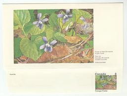 CANADA DOMESTOGRAMME Illus 8c PURPLE VIOLET Postal Stationery Cover Stamps Flowers - 1953-.... Règne D'Elizabeth II