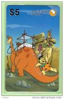 Australia - PacificNet - 1995 The Flintstones $5 - Mint - Australia
