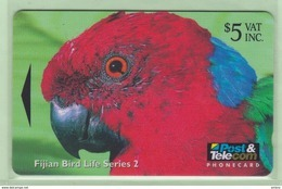 Fiji - 1996 Fijian Birds - $5 Musk Parrot - FIJ-077 - FU - Fiji