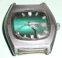 Rare Montre Automatic 21 Jewels Vintage CITIZEN, Verre Cassé, Sans Bracelet, Automatique Water Resistant - Relojes Modernos