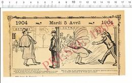 2 Scans 1904 Humour Métier Douanier Douanes Braves Gabelous Contrebande De Vin ?? Octroi Méphisto Coiffeur 216PF10XD - Non Classés
