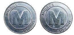 00387 GETTONE JETON TOKEN SWITZERLAND VENDING SHOPPING CART SUPERMARKET MIGROS - Unclassified