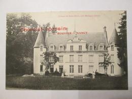 MORTAGNE - CHATEAU DE SAINT DENIS - Carte Avec PUB : CHOCOLAT LORRAIN - G. BOUVIER - NANCY - Mortagne Au Perche