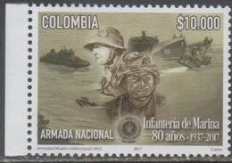 COLOMBIA, 2017, MNH, MILITARY, MARINES,  SHIPS, 1v - Militaria