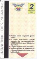 Romania  , Bucuresti  , Metro Ticket  , 2017 - Subway