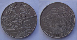 OLANDA 5 F 2000 CU NI FLORIN COMMEMORATIVE SAIL AMSTERDAM CONSERVAZIONE FDC - Pays-Bas