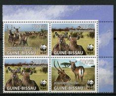 Guinea Bissau, 2008, WWF, World Wildlife Fund, Waterbuck, Animals, Fauna, MNH, Michel 3919-3922 - Guinée-Bissau