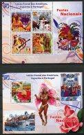 Guinea Bissau, 2008, Upaep, Carnival, Festivals, Culture, MNH, Michel 3909-3912, Block 668 - Guinea-Bissau
