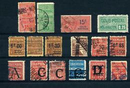 France Petit Lot DeColis-Postaux Obl. - Cote 193 Euros - TB Qualité - Paquetes Postales