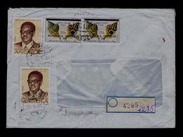 CYMATIUM TRIGONUM Gmelin ANGOLA Benguela Sheels Coquillages Overprinted 2x Cover 1981 Animals Faune Sp5113 - Conchas
