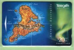 New Zealand - 1995 Stewart Island $20 Map & Aurora - NZ-A-140 - Mint - New Zealand