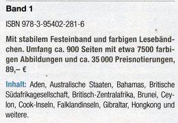 Großbritannien 1:Kolonien A-H MlCHEL 2018 Neu 89€ Britische Gebiete Stamp Catalogue Of Old UK ISBN978-3-95402-281-6 - Erstausgaben