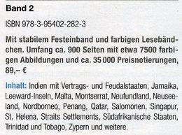 Großbritannien 2:Kolonien I-Z MlCHEL 2018 Neu 89€ Britische Gebiete Stamp Catalogue Of Old UK ISBN978-3-95402-282-3 - Speciale Uitgaven