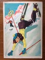 (ski) SCHIPANI: Une élégante Chute à Skis, Vers 1950, TBE. - Illustrateurs & Photographes
